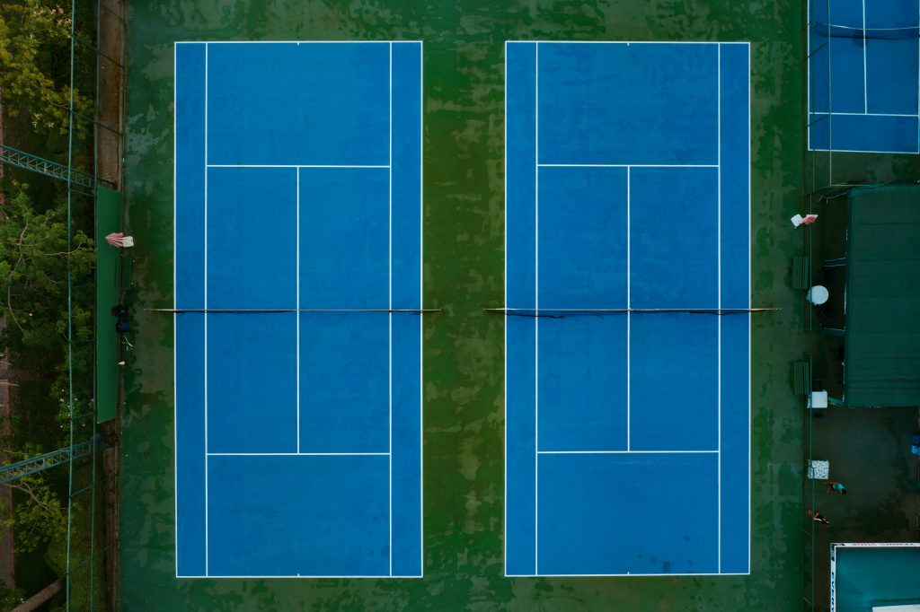 Top view sports court
